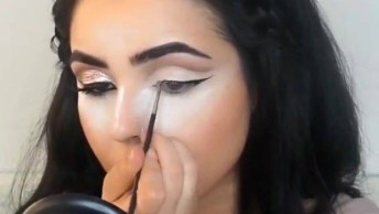 Vídeo Com Linda Maquiagem Com Batom Vermelho, Vale A Pena Conferir!
