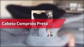 Vídeo Com Lindo Cabelo Comprido Preto, Vale A Pena Conferir!