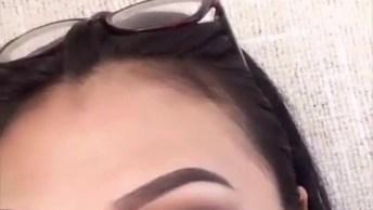 Vídeo Com Lindo Delineado E Sombra Feita Com Lápis De Olho Marrom!