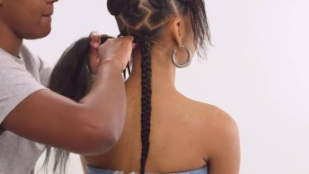 Vídeo Com Lindo Penteado Em Cabelo Afro, Veja Que Perfeito!