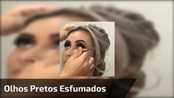 Vídeo Com Maquiagem Com Olhos Pretos Esfumados, Simplesmente Magnifica!