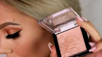 Vídeo Com Maquiagem Completa, Sombra E Preparação De Pele Com Contorno!