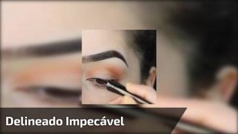 Vídeo Com Maquiagem Nos Olhos Perfeita, Veja Este Delineado Impecável!