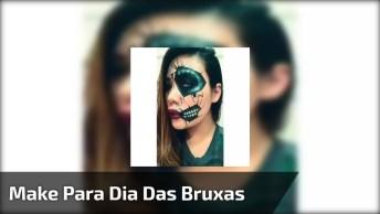 Vídeo Com Maquiagem Para Arrasar Na Noite De Halloween, Confira!