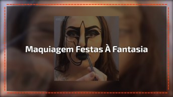 Vídeo Com Maquiagem Para Festas À Fantasia Fantástica, Vale A Pena Conferir!