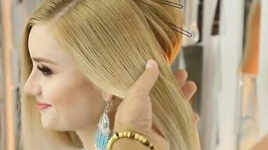 Vídeo Com Passo A Passo De Penteado Para Noiva, O Resultado É Lindo!