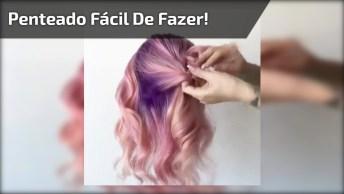 Vídeo Com Passo A Passo De Penteado Super Bonito E Fácil De Fazer!