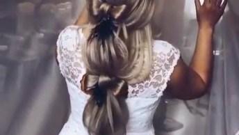 Vídeo Com Penteado Em Cabelo Comprido Para Noiva, Olha Só Que Lindo!