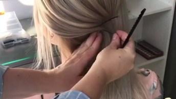 Vídeo Com Penteado Para Noiva, Veja Que Lindo Este Coque Baixo!