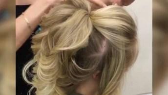 Vídeo Com Penteado Para Noivas Lindíssimo, Vale A Pena Conferir!