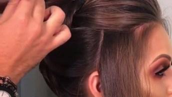 Vídeo Com Penteado Para Te Inspirar, Olha Só Que Coisa Mais Linda Este Coque!