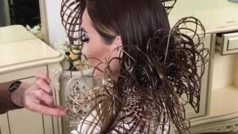 Vídeo Com Penteado Que É Uma Verdadeira Obra De Arte, Vale Apena Conferir!