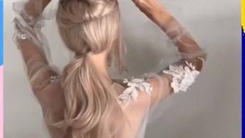 Vídeo Com Penteados Maravilhosos Para Você Mesma Fazer, Vale A Pena Conferir!