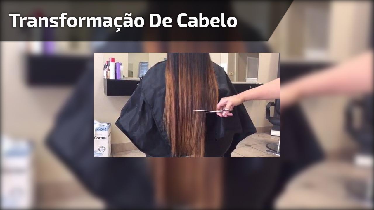 Vídeo com transformação de cabelo maravilhoso, olha só esta cor e corte!!!