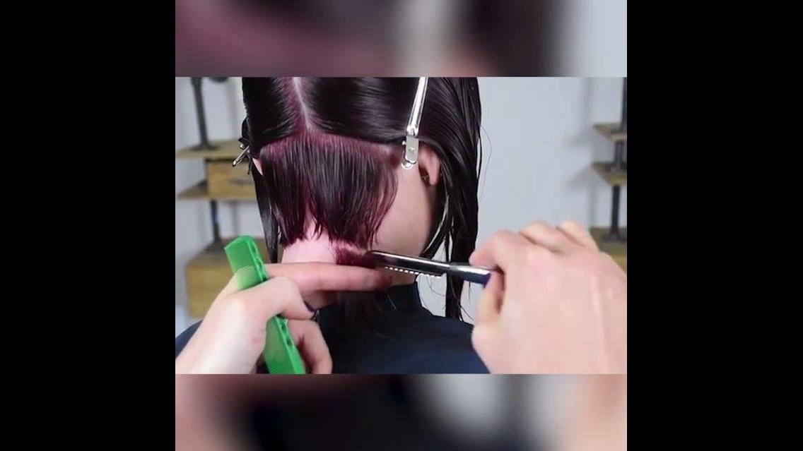 Vídeo com transformações de cabelos com corte no estilo chanel lindos!!!