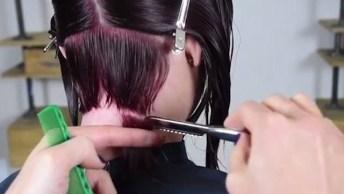 Vídeo Com Transformações De Cabelos Com Corte No Estilo Chanel Lindos!