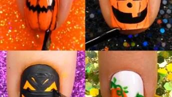 Vídeo Com Tutoriais De Unhas Para O Halloween, Vale A Pena Conferir!