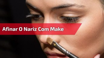 Vídeo Com Tutorial De Como Afinar O Nariz Com Maquiagem, Correção De Sobrancelha