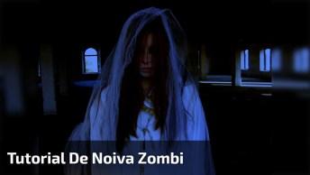 Vídeo Com Tutorial De De Maquiagem Artística De Noiva Cadáver!