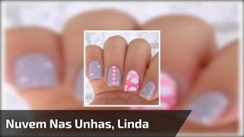 Vídeo Com Tutorial De Unhas Decorada Cinza E Rosas, Simplesmente Linda!