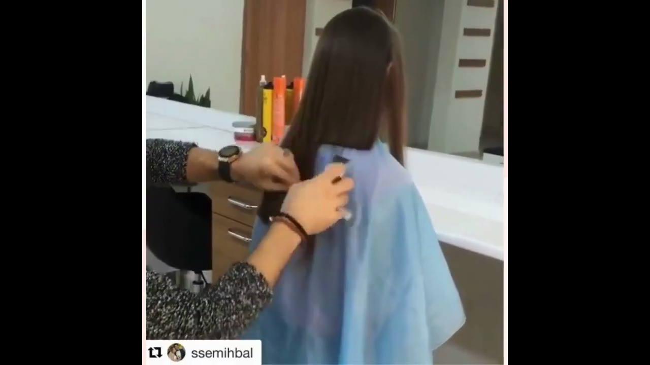 Vídeo com vários cortes de cabelos super longos