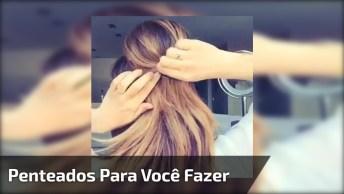 Vídeo Com Vários Passo A Passo De Penteados De Festa, Para Você Mesma Fazer!