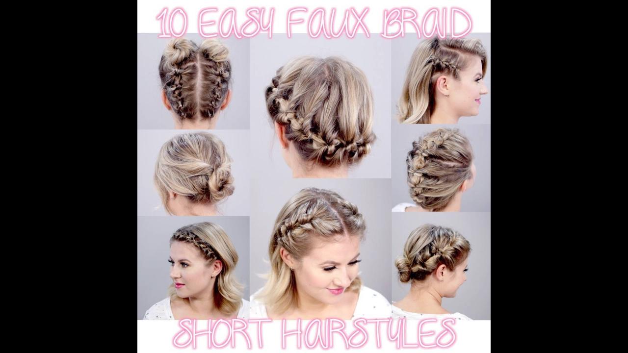 Vídeo com vários penteados para cabelos curtos para você mesma fazer