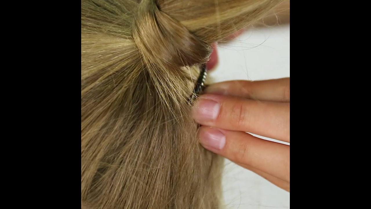 Vídeo de tutorial lindo de penteado infantil