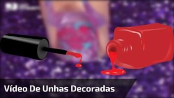 Video De Unhas Decoradas, São Modelos Simples E Fáceis De Aprender!