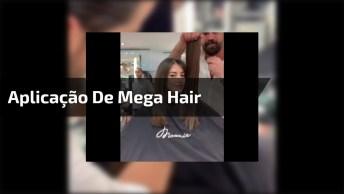 Vídeo Mostrando Antes E Depois De Aplicação De Mega Hair De Fita De Queratina!