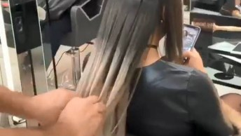 Vídeo Mostrando Aplicação De Mega Hair De Fita Adesiva De Queratina!