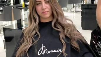 Vídeo Mostrando Aplicação De Mega Hair De Fita De Queratina, Veja Que Lindo!