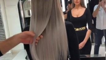 Vídeo Mostrando Aplicação De Mega Hair, Simplesmente Magnifico!