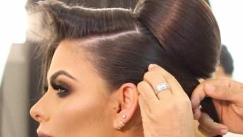 Vídeo Mostrando Penteado Maravilhoso, Para Te Inspirar Para Eventos Especiais!