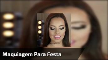 Vídeo Rápido Com Maquiagem Para Festa Delicada E Discreta!
