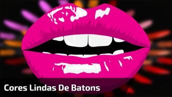 Vídeocom Várias Cres De Batons, E Aplicação De Mascara De Colágeno Para Lábios!