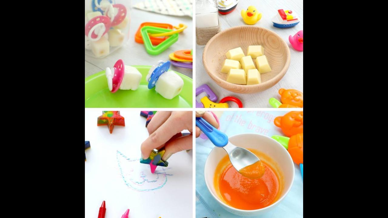 4 Ideias para fazer nas forminhas de de gelo de silicone