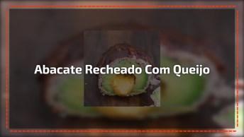Abacate Recheado Com Queijo E Com Cobertura De Carne E Bacon!