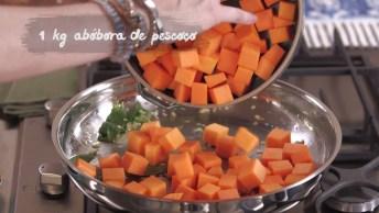 Abóbora Refogada Com Sálvia, Um Cheiroso E Delicioso Prato!