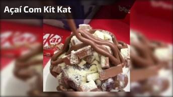 Açaí Já É Bom, Com Kit Kat Brigadeiro E Leite Em Pó Fica Ainda Melhor!