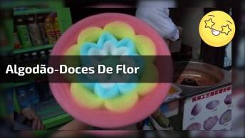Algodão-Doces Em Lindo Formato De Flor, Fia Incrível, Confira!