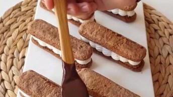 Aprenda A Fazer Biscoitos Recheados E Com Cobertura, Uma Delicia!