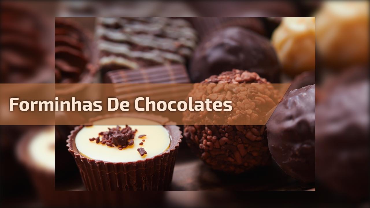 Forminhas de chocolates