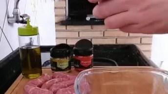 Aprenda A Fazer Pão Com Linguiça De Churrasqueira, Uma Ideia Muito Gostosa!