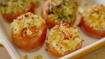 Aprenda A Fazer Tomate Recheado Para Os Seus Dias Mais Corridos!