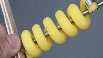 Aprenda A Fazer Um Acessório Para Cortar Batatas Em Espiral!