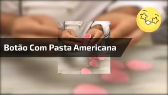 Aprenda A Fazer Um Botão De Rosa Com Pasta Americana, Fica Lindo!