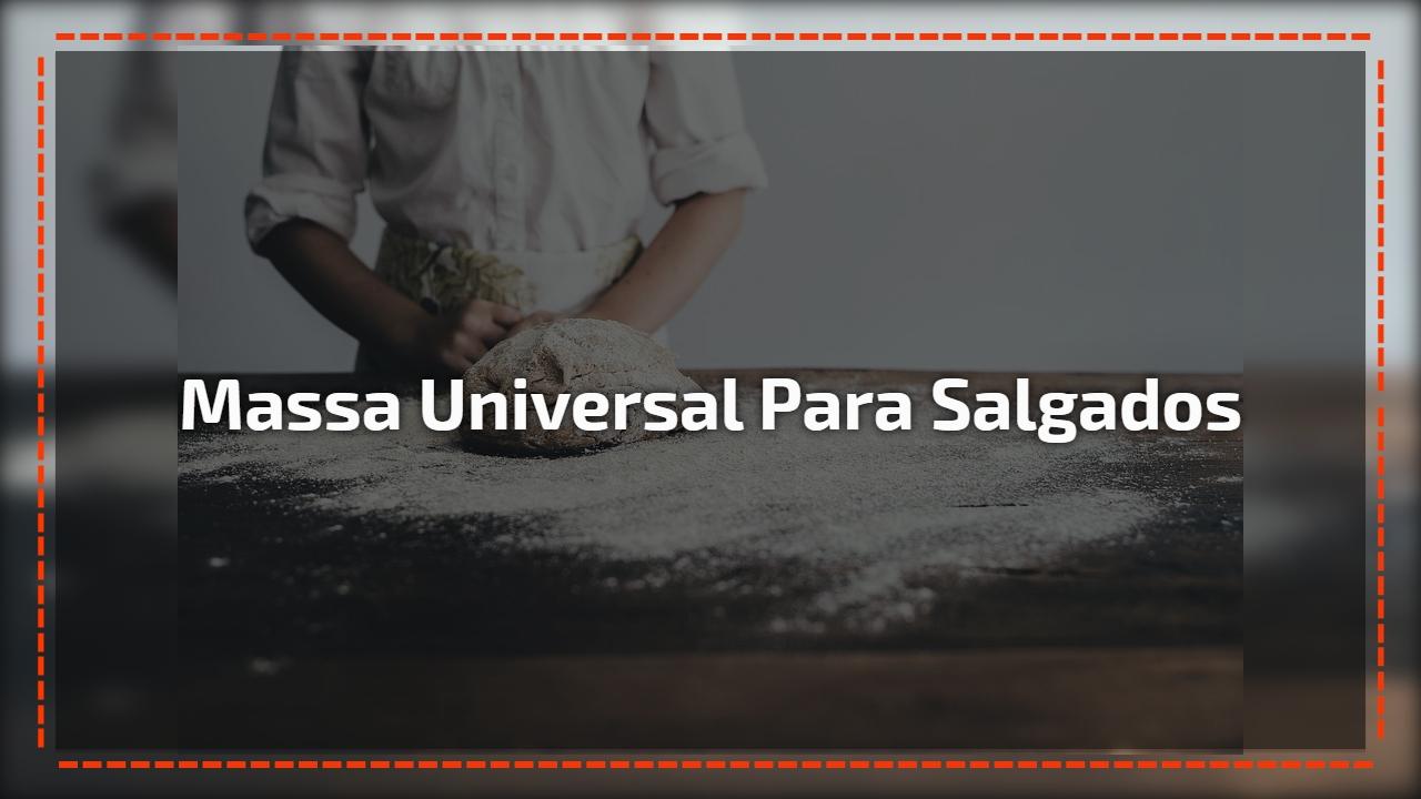 Massa universal para salgados