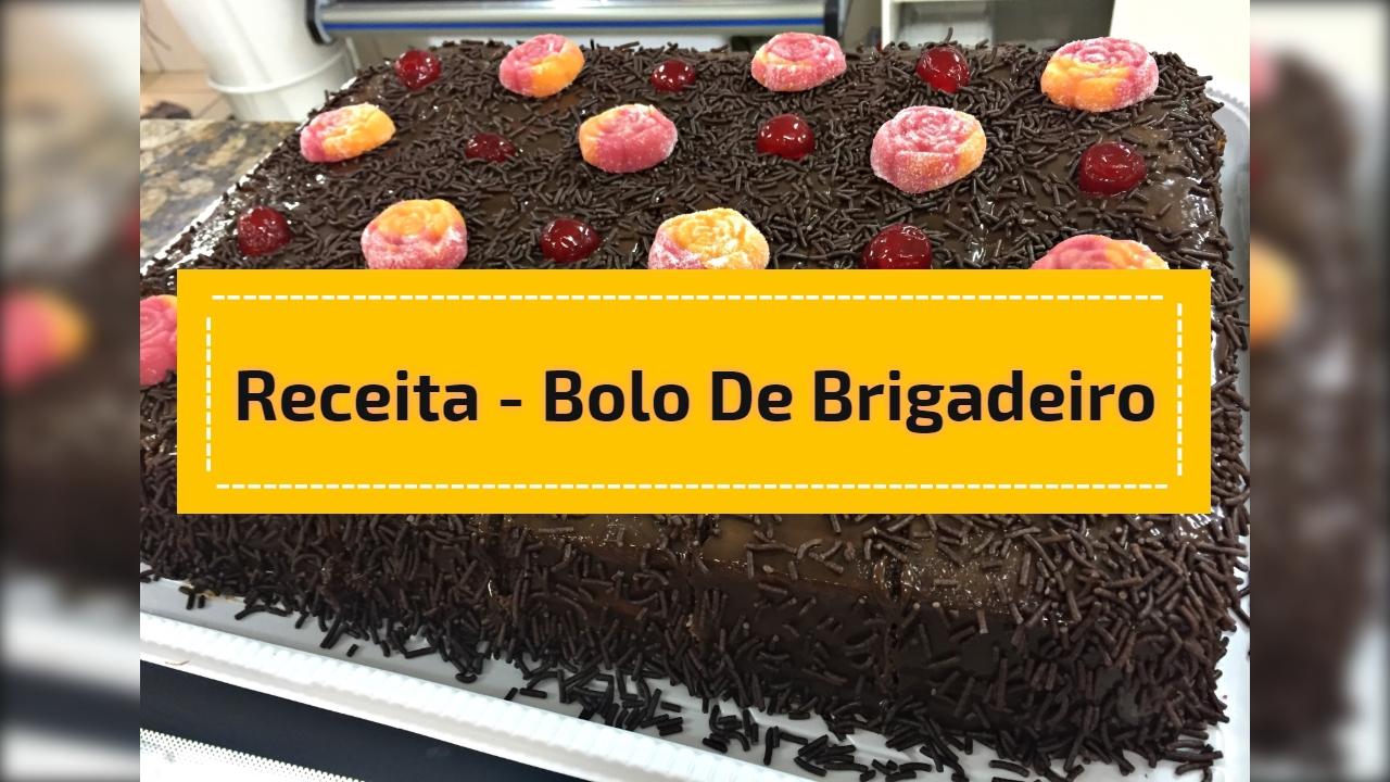 Receita - bolo de brigadeiro