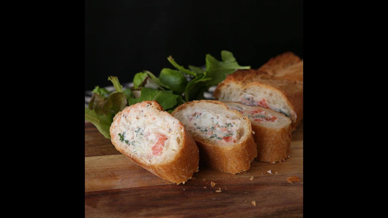 Baguete de Salmão, perfeito para um lanche saudável e saboroso
